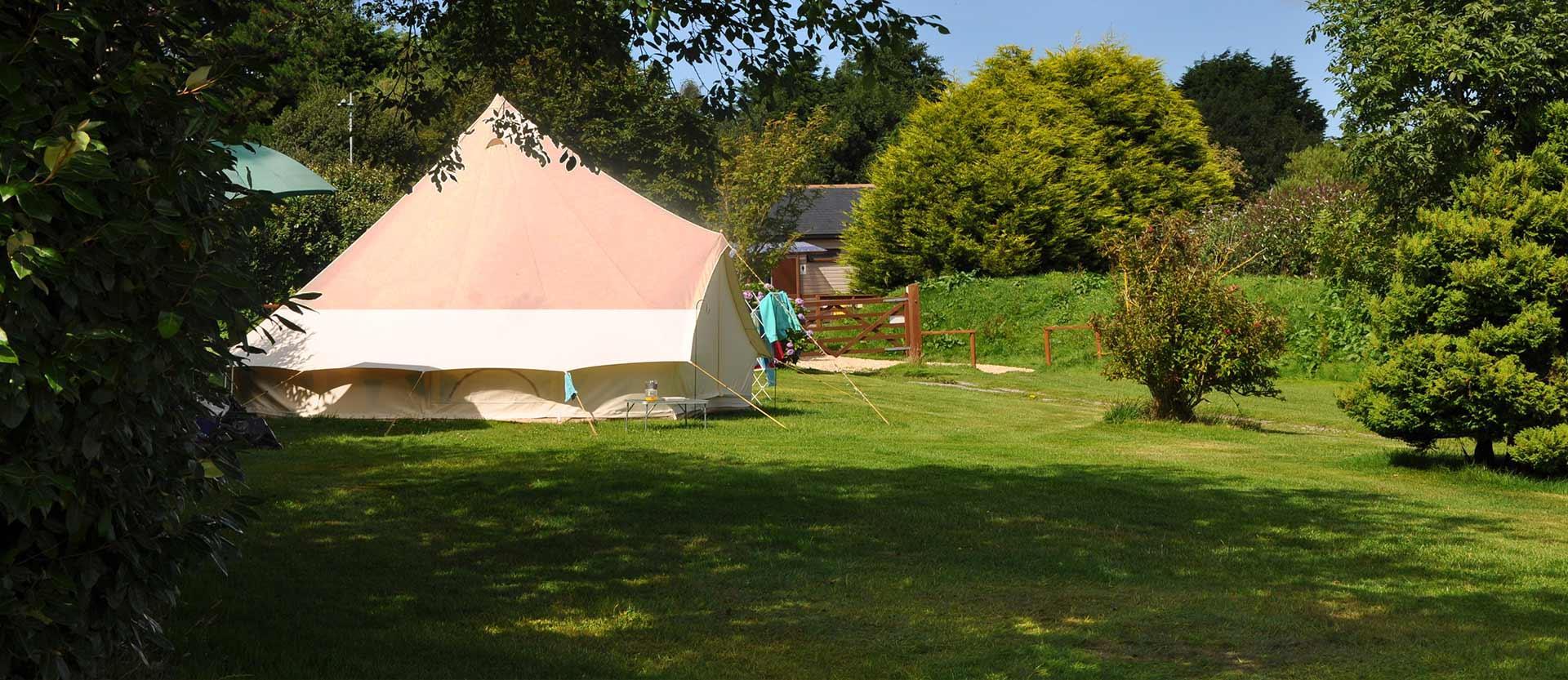 Camping at Trethiggey